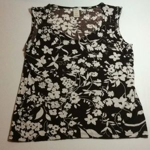 ❤️ Harold's sleeveless top brown with flowers med